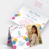 Zaproszenie urodzinowe Kolorowa Girlanda A6