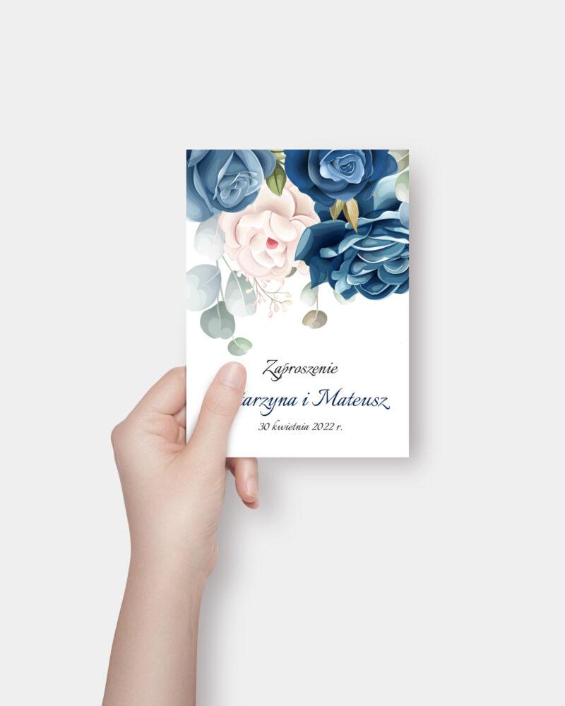 Niebieskie Kwiaty A6 Front